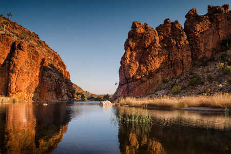 Reflections of rock formations. West MacDonnell Ranges, Northern Territory Central Australia