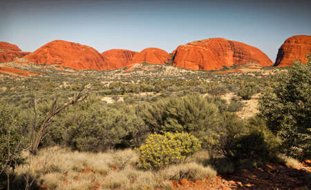 olgas: Kata Tjuta (the Olgas) natural rock formation. Northern Territory, Australia