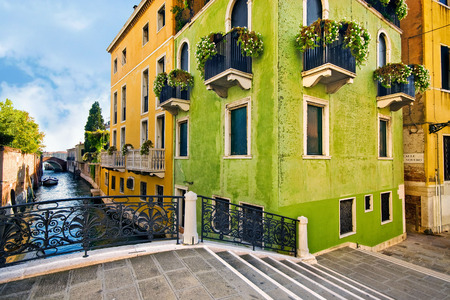 Baroque architecture on the streets and canals of Venice