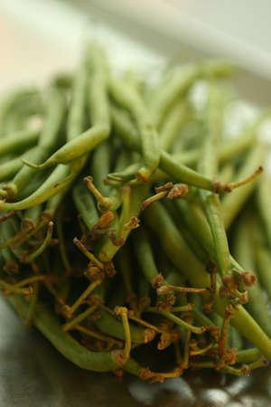 green beans: Jud?as verdes Foto de archivo