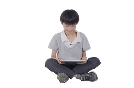 Boy with a touchpad