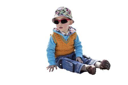 Cute boy with sunglasses