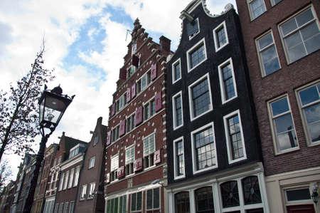 gabled: Amsterdam Facades Stock Photo