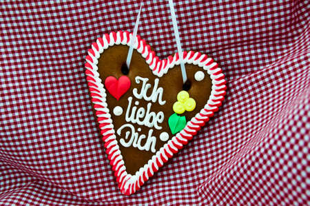 Oktoberfest Gingerbread Heart photo