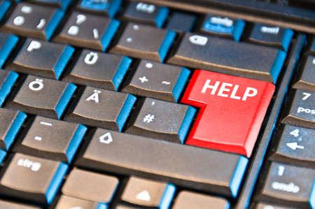 Computer Keyboard With Help Key photo