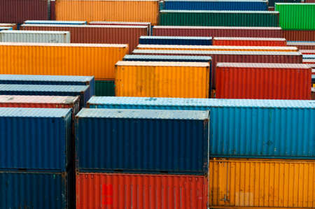 customs: colorful freight containers