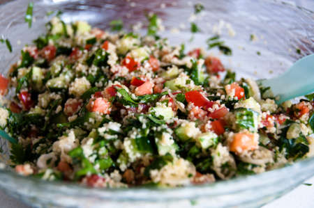 lebanese: Arabian Tabouleh Dish With Couscous  Stock Photo