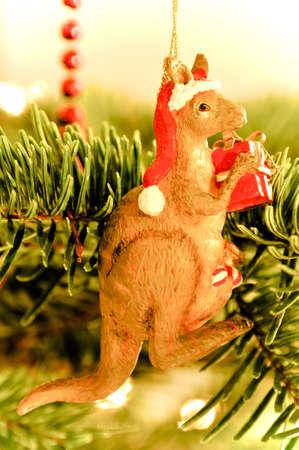 クリスマス ツリーの装飾: オーストラリアのカンガルー