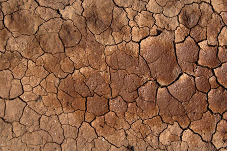 aridness: Dried soil under the Sun Stock Photo