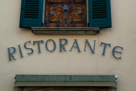 Beautiful Italian Restaurant sign (Ristorante) with room for your copy space underneath if needed..