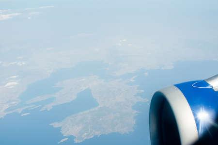 Airline porthole photo