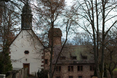 Old castle and chapel Stock Photo - 17188636