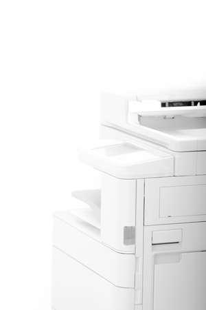 オフィスの多機能プリンター - 明るい光と抽象的な写真 写真素材