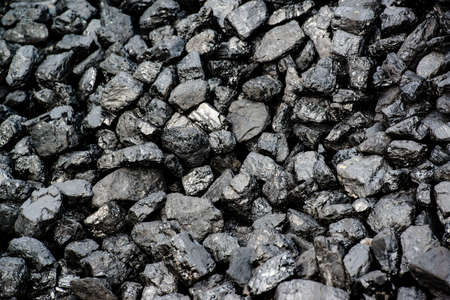 anthracite coal: A pile of black coal from mining pit - background
