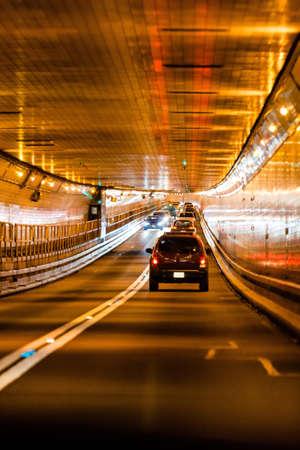 Traffic in Lincoln tunnel, New York city Standard-Bild