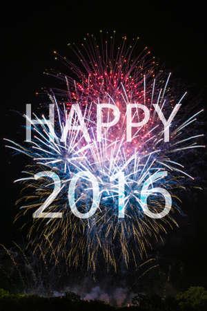 幸せな新しい年 2016 年