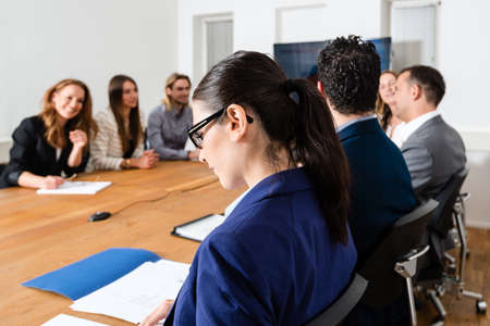 conference room meeting: Business meeting Stock Photo