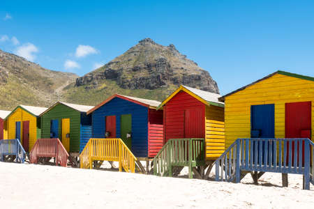 town houses: Colorful beach huts