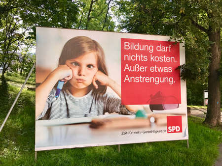 parliamentarian: SPD billboard for the German Parliamentary Elections Editorial