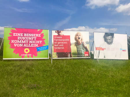 parliamentarian: Billboards by major parties for the German Parliamentary Elections