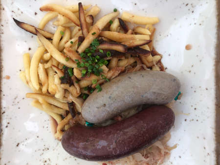German blood and liver sausages