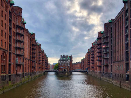 Old warehouse district (Speicherstadt) in Hamburg