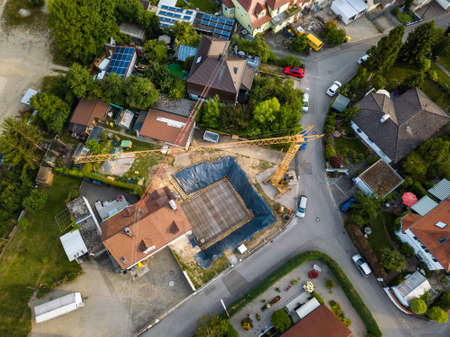 Aerial view of traditional village in Germany.