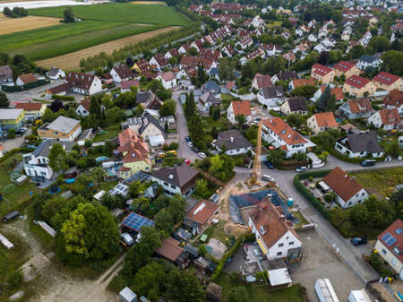 Aerial view of traditional village in Germany Foto de archivo