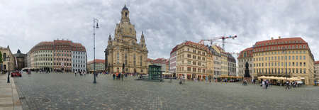 The rebuilt Church of Our Lady (Frauenkirche) in Dresden, Germany.