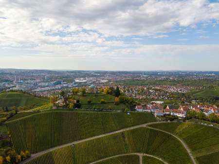 Aerial of the Grave Chapel (Grabkapelle) on Rotenberg