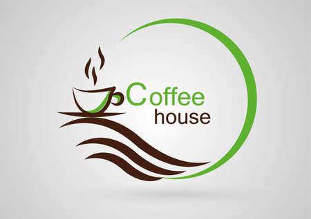 houses: Coffee house logo Illustration