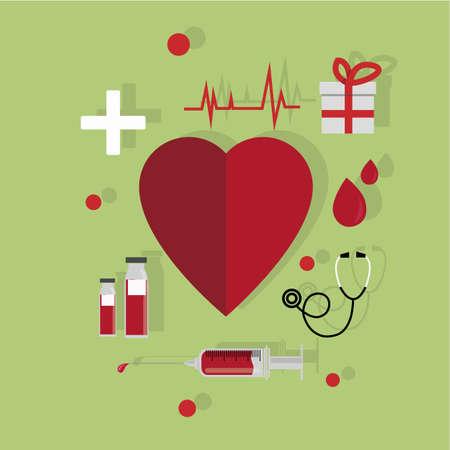 Blood donation utensils Vector