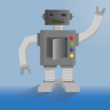 electromechanical: Robot Illustration