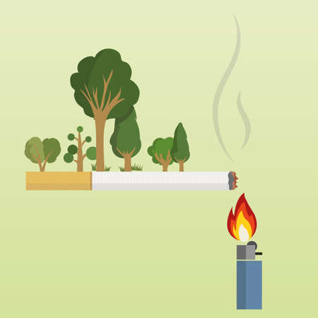 inflamation: Green Initiatives Illustration