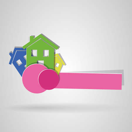 Logo of house colors. vector image Vector