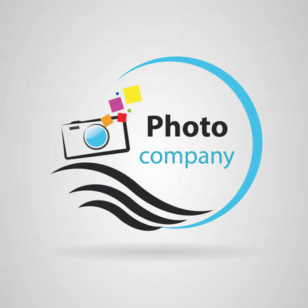 Simple photo symbol. Vector image
