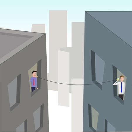 era: The era of communication. vector image