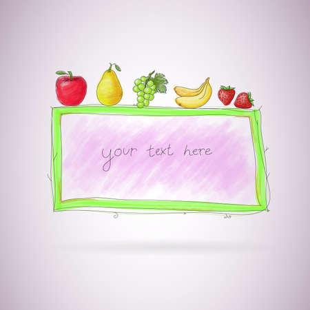 food healthy: Food healthy fruit. vector image