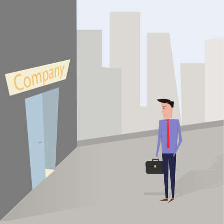 First day of work. vector image