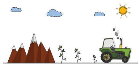 cultivating: de orugas cultivar la tierra