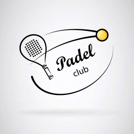 ラケットとテニス ボール。  イラスト・ベクター素材