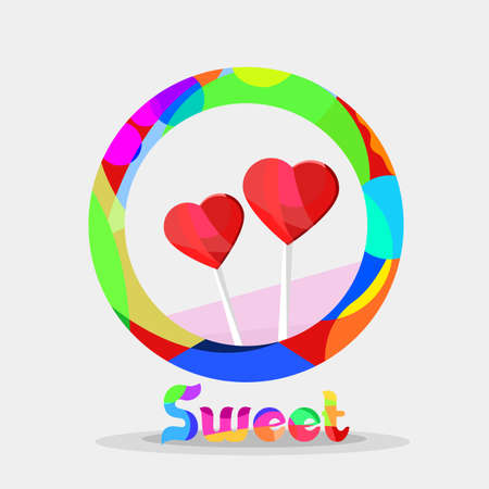 graphic icon: Logo of candy. modern colors Illustration