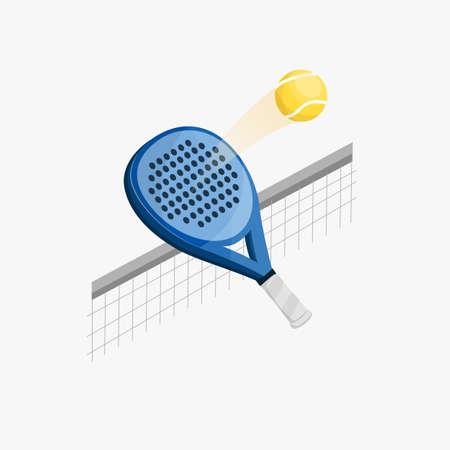 Paddle racket hitting ball