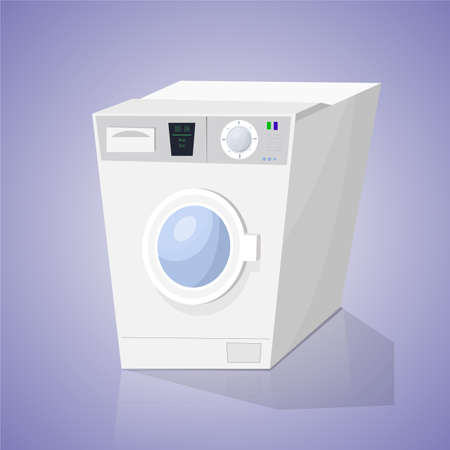 washer: Washer on a colored background. Vector illustration