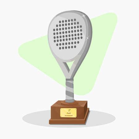 second prize: Trophy shaped padel racket. Second prize. Illustration