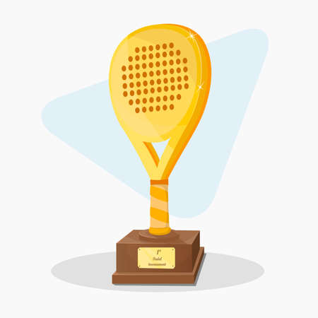 first prize: Trophy shaped padel racket. First prize. Illustration