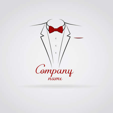 black suit: Logo elegant tuxedo Illustration