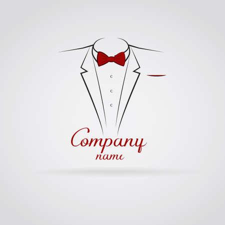 Logo elegant tuxedo Stock Illustratie