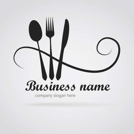 Logo restaurant with cutlery Vettoriali