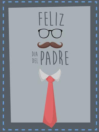 """persona feliz: Feliz Día del Padre. texto español """"día de padre feliz"""" Vectores"""